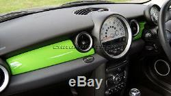 MK2 MINI Cooper/S/ONE R55 R56 R57 R58 R59 GREEN Dashboard Panel Trim Cover RHD