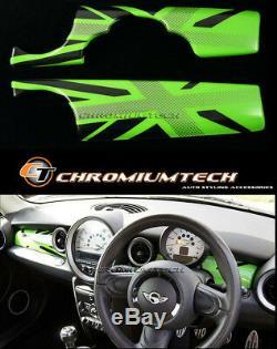 MK2 MINI Cooper/S/ONE R55 R56 R57 R58 R59 Green Union Jack Dashboard Panel Cover