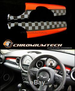 MK2 MINI Cooper/S/ONE R55 R56 R57 R58 R59 JCW Style Dashboard Panel Cover RHD