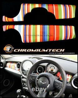 MK2 MINI Cooper/S/ONE R55 R56 R57 R58 R59 Multi Stripe Dashboard Panel Cover LHD