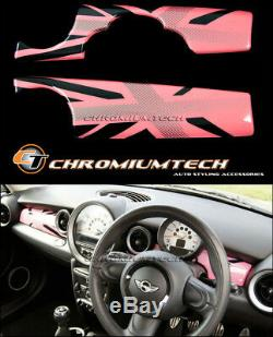 MK2 MINI Cooper/S/ONE R55 R56 R57 R58 R59 Pink Union Jack Dashboard Panel Cover