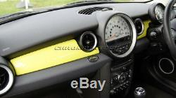 MK2 MINI Cooper/S/ONE R55 R56 R57 R58 R59 YELLOW Dashboard Panel Trim Cover RHD