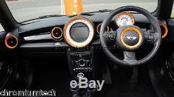 MK2 MINI Cooper/S/One R55 R56 R57 R58 R59 ORANGE Dashboard Interior Ring Kit