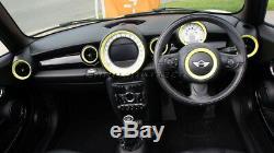 MK2 MINI Cooper/S/One R55 R56 R57 R58 R59 YELLOW Dashboard Interior Rings Kit