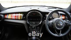 MK3 MINI Cooper/S/ONE F55 F56 F57 Multi Colour Stripe Dashboard Panel Cover LHD
