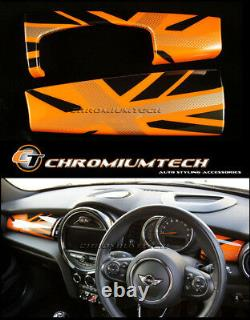 MK3 MINI Cooper/S/ONE F55 F56 Hatch F57 ORANGE Union Jack Dashboard Panel Cover