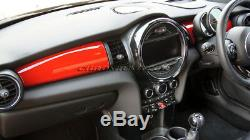 MK3 MINI Cooper/S/ONE/JCW F55 F56 F57 RED Dashboard Panel Trim Cover for LHD