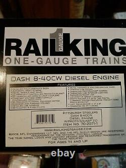 MTH RAILKING One Gauge PITTSBURGH STEELERS SUPER BOWL Diesel engine and 8 cars