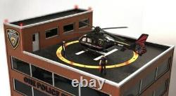 Menards One Police Plaza Building Accessory Operating Helicopter! O Gauge Scale