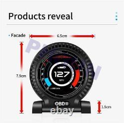 Multifunction OBD 2 Car Digital Gauge Speed Turbo Oil Water Pressure Temp Meter