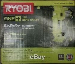NEW! RYOBI 18V ONE+ Lithium-Ion Cordless AirStrike 18-Gauge Brad Nailer