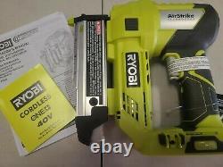 New RYOBI P318 40V ONE+ 23-Gauge Cordless Pin Nailer Tool Only