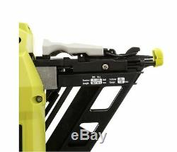 New Ryobi ONE+ 18-Volt 15-Gauge AirStrike Cordless Angled Nailer Power Tool Only