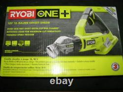New Ryobi P591 18-Volt One+ 18-Gauge Offset Shear Factory Sealed NEW