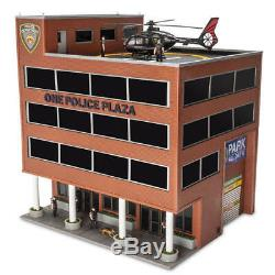 O Gauge ONE POLICE PLAZA Building with Animated Helicopter prebuilt