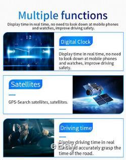 OBD2+GPS HUD Head Up Display Car Speedometer Digital Meter Detector Alarm System