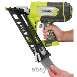 ONE+ 18V Cordless Airstrike 15-Gauge Angled Finish Nailer + Battery & Charger
