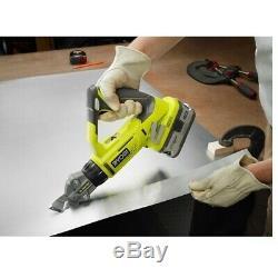 P591 Ryobi ONE+ 18-Volt 18-Gauge Offset Shear / Cordless Metal Shears