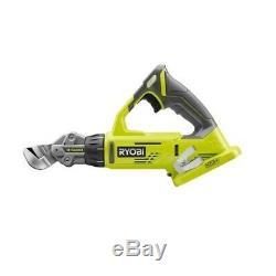 P591 Ryobi ONE+ 18-Volt 18-Gauge Offset Shear/ Cordless Shears + 4.0 Ah battery