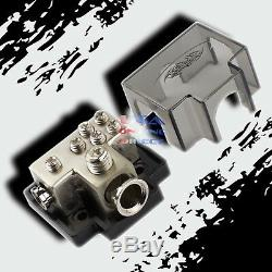 PLATINUM POWER GROUND DISTRIBUTION BLOCK 1/0 or 2 IN & one 4 & four 8 GAUGE OUT