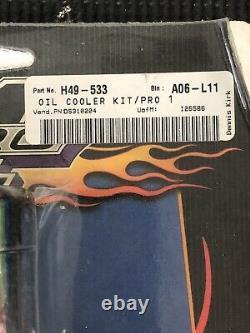 Pro-One Oil Cooler Kit Chrome No Gauge Universal 201050