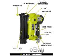RYOBI 18-Volt (18v) ONE+ Cordless AirStrike 18-Gauge Brad Nailer with Nails