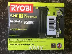 RYOBI 18-Volt ONE+ Cordless AirStrike 18-Gauge Brad Nailer Air strike Tool Only