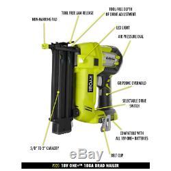 RYOBI 18-Volt ONE+ Cordless AirStrike 18-Gauge Brad Nailer (Tool Only) New