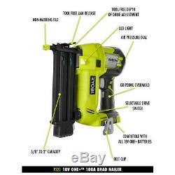 RYOBI 18-Volt ONE+ Cordless AirStrike 18-Gauge Brad Nailer (Tool Only) with