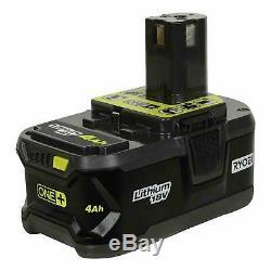 RYOBI 4Ah 18V Li-ion Battery High Capacity P197 ONE+ Fuel Gauge Genuine OEM P108