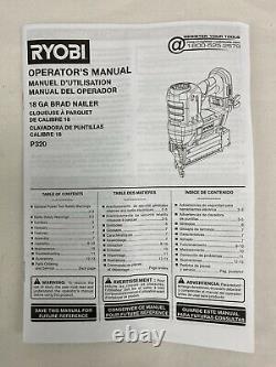 RYOBI ONE+ 18V Brad Nailer AirStrike 18 Gauge Cordless Tool Only