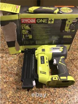 RYOBI ONE+ 18V Cordless AirStrike 18-Gauge Brad Nailer Tool Only with Sample Nai