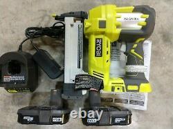 RYOBI One+ 18V 18 Gauge Cordless Narrow Gauge Crown Stapler Kit Model# P360