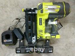 RYOBI One+ 18V Cordless 16 Gauge Finish Nailer Kit 2 Batteries Model# P325