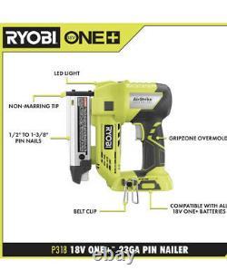 RYOBI P318 18V ONE+ AirStrike 23-Gauge 1-3/8 in. Headless Pin Nailer Tool Only
