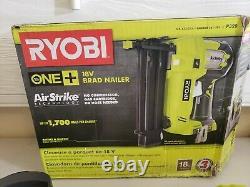 RYOBI P320 18-Gauge Cordless Brad Nailer 18-Volt ONE+ AirStrike Battery &Charger