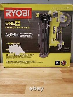 RYOBI P325 18V ONE+ AirStrike 16-Gauge Cordless Straight Finish Nailer. New