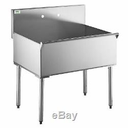 Regency 36 16 Gauge S/S One Compartment Utility Sink 36 x 24 x 14 Bowl