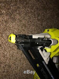 Ryobi 18-V ONE+ 15-Gauge Cordless Angled Nailer Staple Nail Gun (Bare Tool) P330