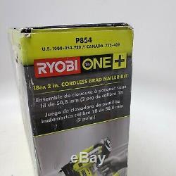 Ryobi 18-Volt ONE+ Cordless AirStrike 18-Gauge Brad Nailer Kit with Battery