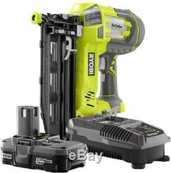 Ryobi 18-Volt ONE+ Lithium-Ion Cordless 16-Gauge 2-1/2 in Straight Finish Nailer