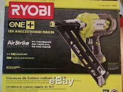 Ryobi 18-Volt ONE+ Lithium-Ion Cordless AirStrike 15-Gauge Angled Nailer P330