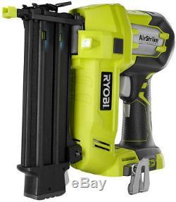 Ryobi Brad Nailer 18-Volt ONE+ AirStrike 18-Gauge Cordless Electric Tool Only
