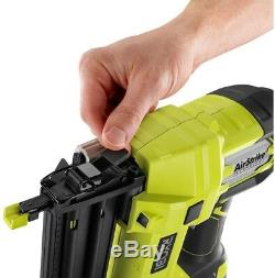 Ryobi Brad Nailer Tool nails 18-Volt ONE+ Cordless AirStrike 18-Gauge Tool Free