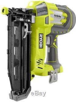 Ryobi Nailer 2-Tool Combo Kit 18-Volt ONE+ Li-Ion Cordless AirStrike 16-Gauge