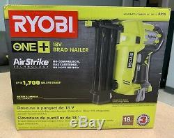 Ryobi P320 18 Volt ONE+ Cordless AirStrike 18 Gauge Brad Nailer Tool Only NEW