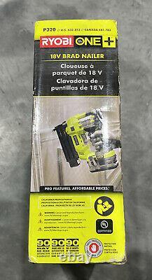 Ryobi P320 18V 18-Volt ONE+ AirStrike 18-Gauge Cordless Brad Nailer Brand New