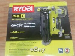 Ryobi P325 18V ONE+ AirStrike 16-Gauge Cordless Straight Nailer Tool-Only NEW