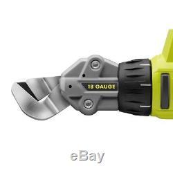 Ryobi P591 18V ONE+ 18-Gauge Cordless Offset Shear for P197 P107 P105 P102