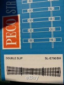 SL-E790BH O Gauge Double Slip (8 angle) Electrofrog Peco last one
